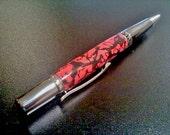 Sierra Elegant Beauty Ball Point Twist Pen - Black Titanium & Platinum - Hand Crafted Clay - BER-SRA-6001