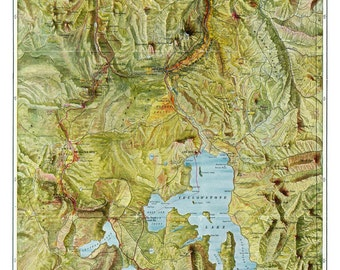 Yellowstone National Park - Vintage 1898  Map