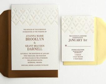 Pineapple Wedding Invitations - Modern Wedding Invitations - Pineapple-Inspired - Pineapple Pattern - Avianna Invitation Suite - DEPOSIT