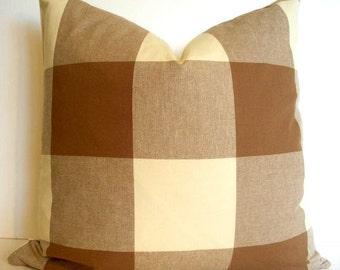 Brown Check Pillow Buffalo Check 16 18 20 00, alotm