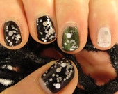 Christmas Time in the City Indie Nail Polish Grey & White Holiday/ Christmas 2014