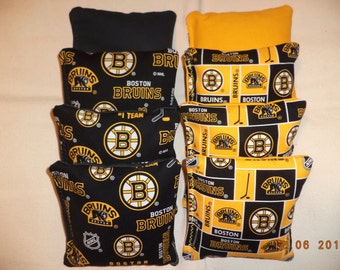 Cornhole bags Boston Bruins Corn hole Bean Bags 8 ACA Regulation bean bags NHL