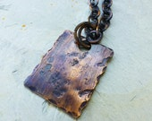 Earth Tag - Distressed Copper Unisex Necklace