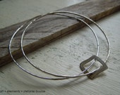 Double Bangle Square or Circle Handmade Fine Sterling Silver