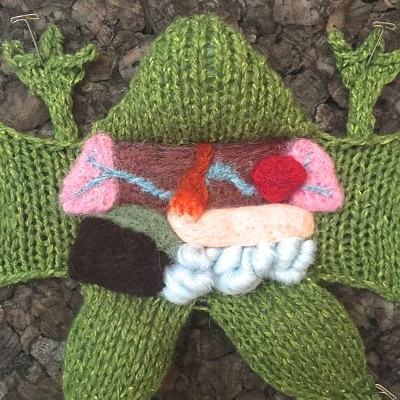 Knitting in Biology 101 dark cork background