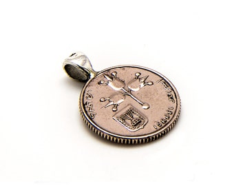 Israeli 5 agorot pendent coin