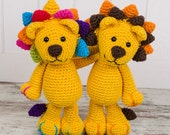 Logan the Lion Amigurumi - PDF Crochet Pattern - Instant Download - Amigurumi crochet Cuddy Stuff Plush