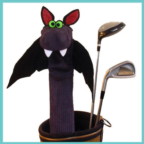 Vampire Bat Golf Club Cover Halloween