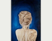Original Figurative Abstract Art Modern Painting oil on canvas Woman painting  Home decor Wall decor