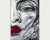 Original Modern Art Abstract Face Painting Acrylic Home Decor