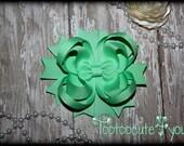 Mint Hair Bow , mint Green Hair Bow , Hair Clip , mint green boutique hair bow, 4 Inch hair bow, Mint Boutique Bow , mint green, hair bow
