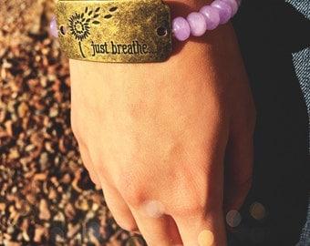 Just Breathe // Bracelet // Jewelry