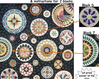 Lots of Dots BOM - Month 9. Patterns and instructions for two blocks as pictured.