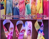 Princess pacifier clips