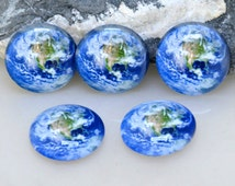 Circle Blue Map Earth  Handmade photo glass cabochon dome  10mm 12mm 14mm16mm 18mm 20mm 22mm 25mm 30mm Earring Brooch Ring Bracelet Necklace