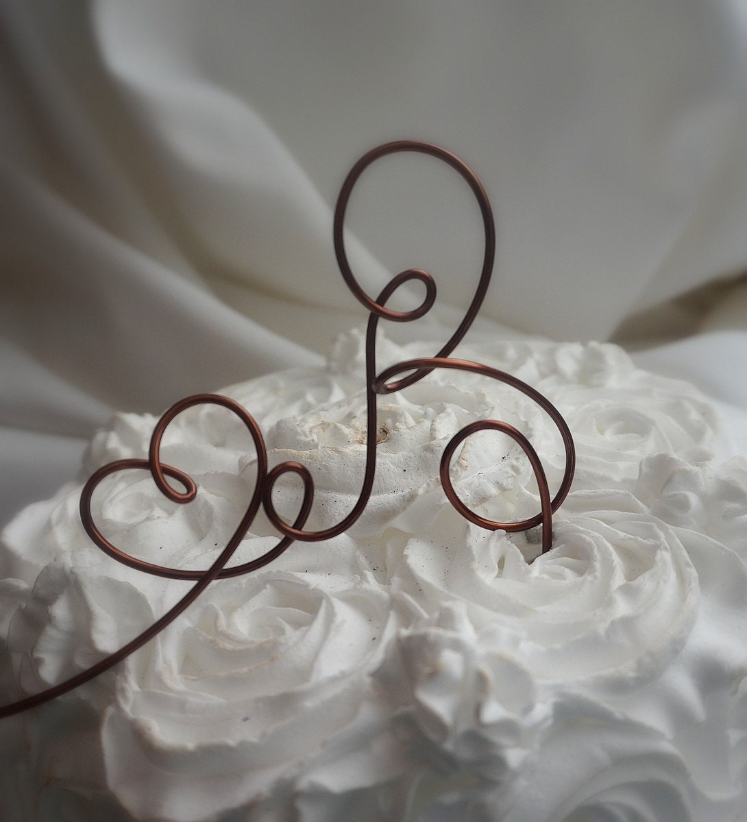 Rustic Letter Cake Topper Wedding Decor by HomesAndWeddings