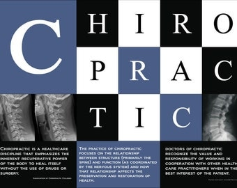 """Chiropractic Defined Poster 18"""" X 24"""""""