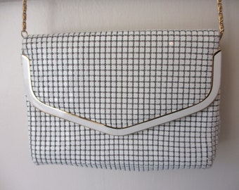 Vintage White and Gold Mesh Purse