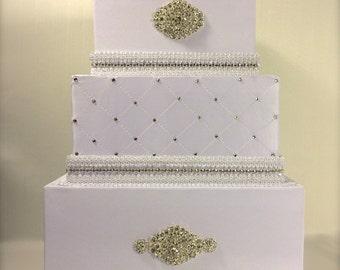 Wedding Card Box Classic Wedding Card Holder Wedding Card Box Gift Card Box Secure Lock Wedding Card Box Wedding Card White Wedding Card Box