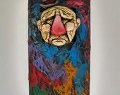 Candy man - Polymer clay, Art, wood, handmade sculpture