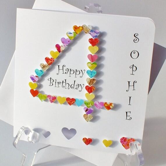 Handmade d card th birthday personalised