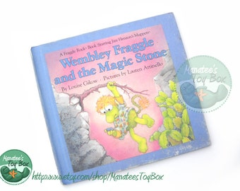 1980s Fraggle Rock Book: Wembley Fraggle and the Magic Stone