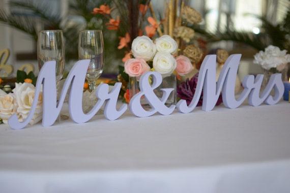 Wedding sign LAVENDER Mr & Mrs Top Table Decoration signs.