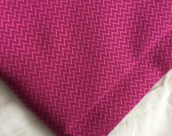 One Yard Cotton silk Chevron in Pink