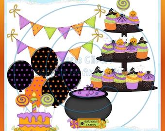 Halloween Party 2 Clipart (Digital Download ZIP file)