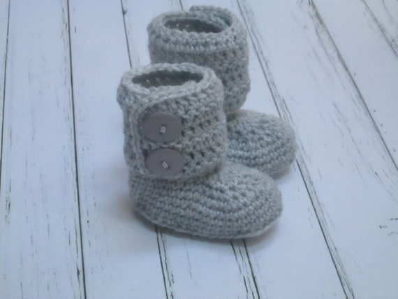 Crochet Baby Boots, Booties, Photo Props Boy, Girl Baby Shower- 0-3m, 3-6m, 6-12m-Many colors - Made to order