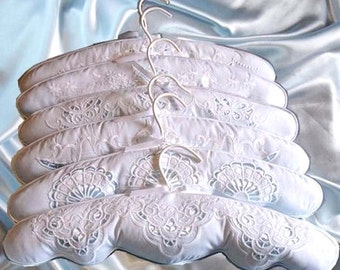 Bridal Closet Padded Hanger Country Vintage Style Cutwork Embroidery