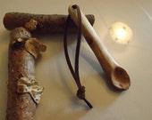 Oak wood Tea Spoon - spoons apothecary birch tree hand carved handmade utensil bushcraft