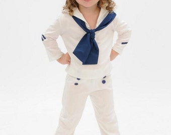 Toddler girls Shirley Temple sailor inspired sailor suit