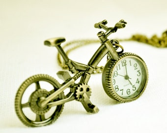 1pcs Bike Watch Charms Pendant with chain /pocket watch/Bridesmaid , Christmas gifts, friends, children's gifts
