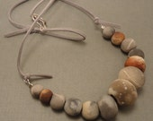 Raised From the Ashes Pit Fired Bead Necklace