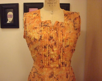 Sunburst floral summer dress