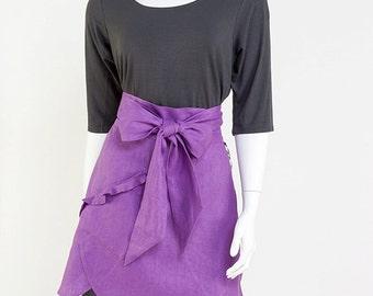 Women's Apron, Stylish Apron, Kitchen Apron, Waist Apron Purple Apron