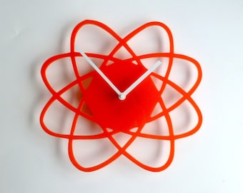 Objectify Atom Outline Wall Clock