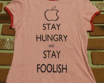 "Steve Jobs's ""Stay Hungry & Stay Foolish"" Girl Keep Calm Shirt"