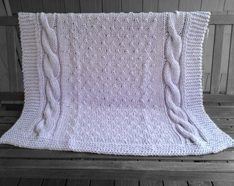 Sweet Dreams Cable Blanket Pattern