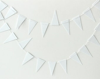 White Geometric Garland, Paper Garland, Apartment Decor, Photo Prop, Party Decor, Wedding Backdrop