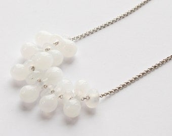 Cloud Glass Beaded Necklace