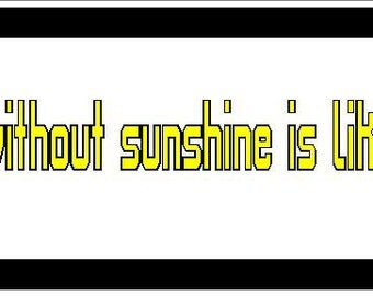 A day without sunshine, is like, night funny Vinyl decal bumper sticker