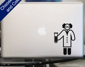 Scientist Symbol Decal - Inventor Sticker for Laptop, Car