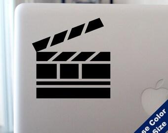 Film Clapperboard Decal -Movie Vinyl Sticker - For Car, Window, Laptop