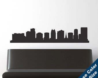 Orlando Skyline Wall Decal - Vinyl Sticker  - Florida