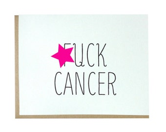 Mature, F cancer greeting card, mature content