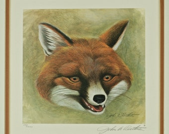 Vintage John Ruthven Signed and Numbered Limited Edition Print - 'Fox Masque II'