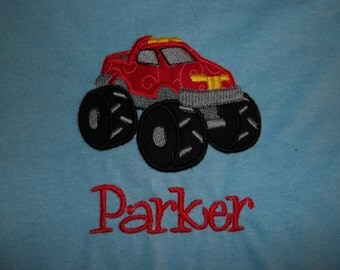 Toddler Short Sleeve Monster Truck Tshirt in Sizes 2t to 7