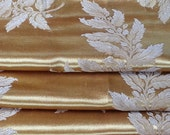 Satin Brocade Curtains, Liquid Gold, Extra Long and Wide, Reversible